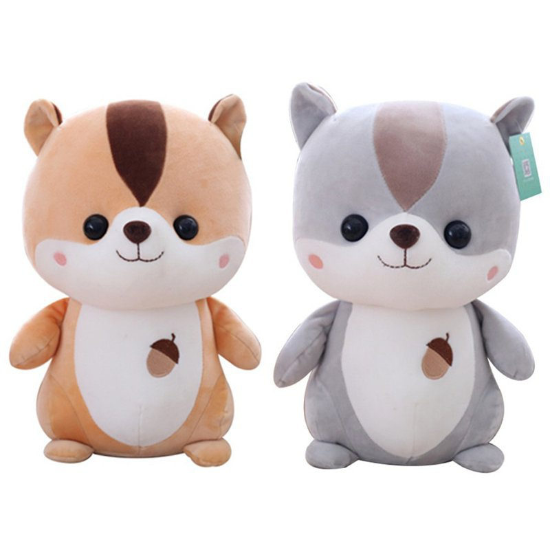 1pc 25cm Squirrel Plush Toy Staffed Cartoon Animal Doll Kawaii Baby Kids Appease Toy Creative Children Girls Birthday Gift