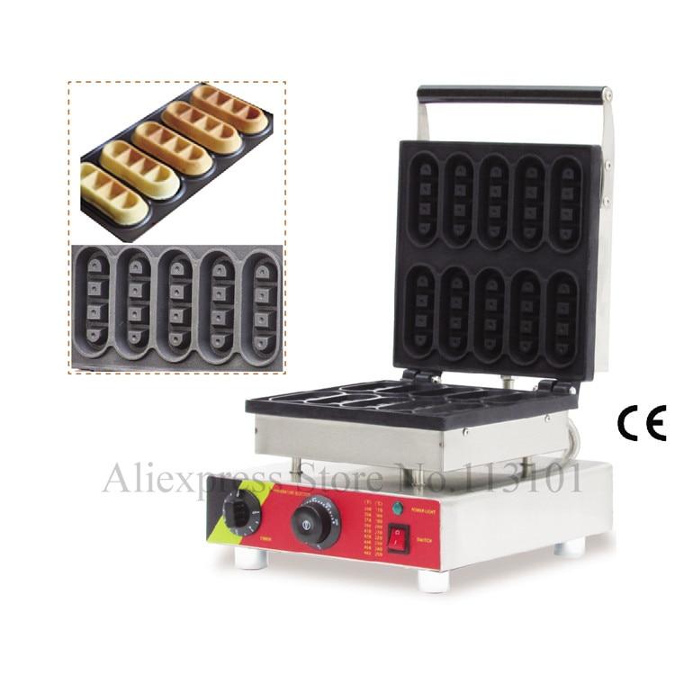 Bar tipi küçük waffle baker makinesi paslanmaz çelik mini tipi 10 adet bar şekli ile waffle makinesi waffle kalıpları