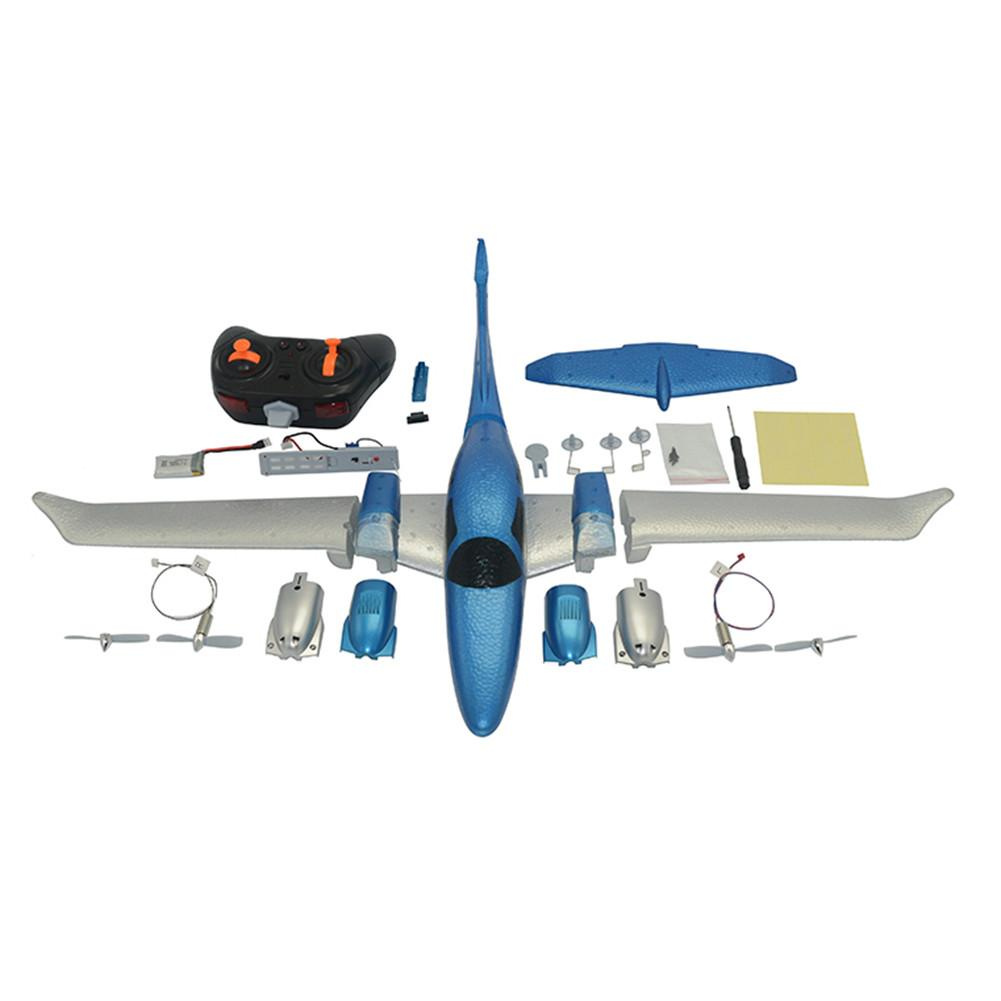 New DIY Fixed Wing EPP Foam Transport Aircraft Shape Remote Control Aircraft Power Full Aircraft Model Assembly Toy