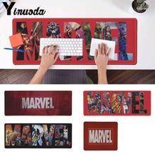 Yinuoda Funny Marvel Gaming Player desk laptop Rubber Mouse Mat Size for 300*900  400*900cm large mat dota 2 lol
