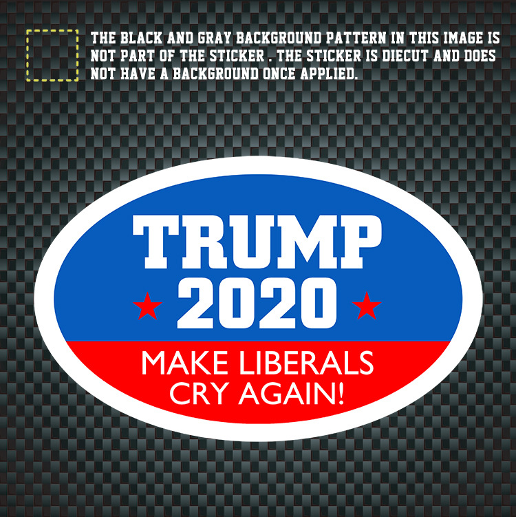 TRUMP 2020 Make Liberals Cry Again Car Decals Stickers-in Decals & Stickers from Automobiles & Motorcycles    1