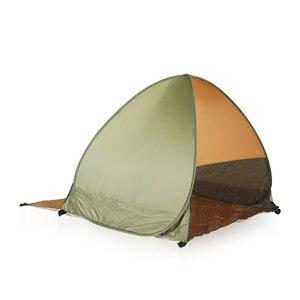 Image 3 - Abrigo da praia Pop Up Tenda Portátil À Prova D Água À Prova de Vento Dobrável Prata Opaco Fita Móveis Abrigo De Pesca Tenda Ao Ar Livre
