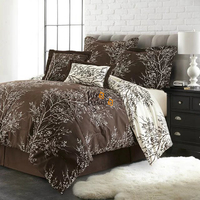 Brief Europe Tree Branches Pattern Luxury Style High Quality Modern Bedding Sets Duvet Cover Set Full