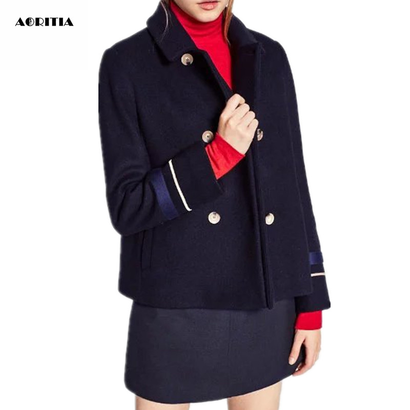 Popular Navy Blue Coat Women-Buy Cheap Navy Blue Coat Women lots ...