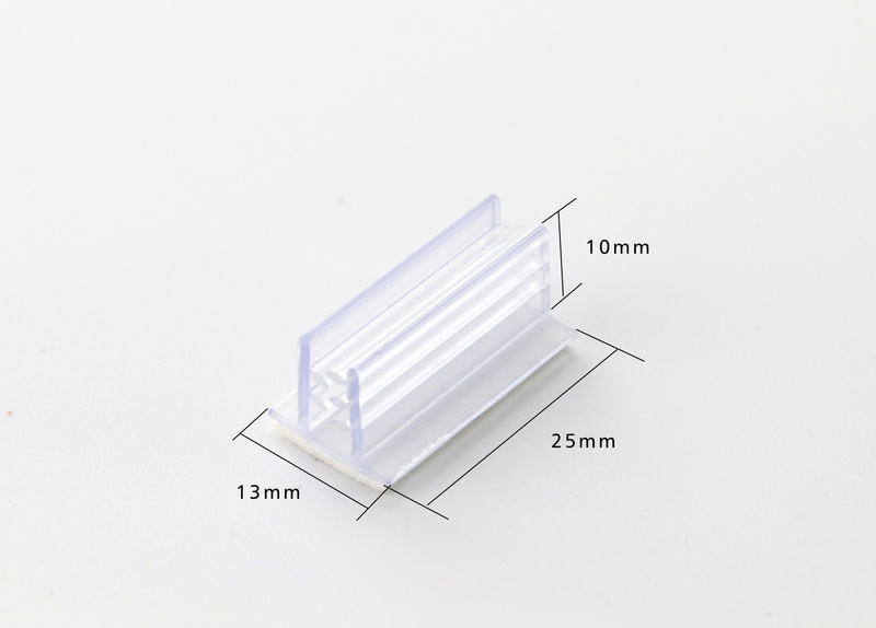 Table Price Tag Holders Adhesive Backing With Tooth-like Gripper Flush Mount Clip Wall Shelf Talker Rack Flag Label Card Sign