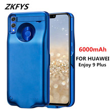 ZKFYS For Huawei Enjoy 9 Plus Power Supply Case 6000mAh External Backup Phone Bank Pack Battery Charging Cover