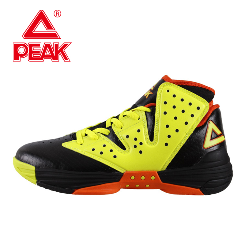 PEAK Monster VI New Mens Basketball Shoes FOOTHOLD Cushion-3 Tech Athletic Shoes Men Ankle Boots Train Sneakers  EUR 40-47 peak sport lightning ii men authent basketball shoes competitions athletic boots foothold cushion 3 tech sneakers eur 40 50