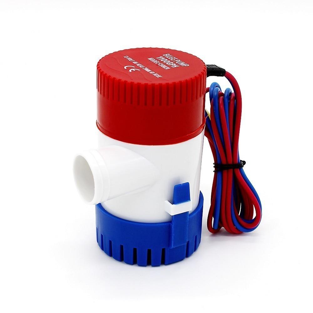 750gph Dc 12 V 24 V Mini Elektrische Bilgewasserpumpe Mit Auto Schwimmerschalter Kajak Regel 12 V 750 Gph Volt Manuelle Marine Garden Pumpen, Teile Und Zubehör Heimwerker