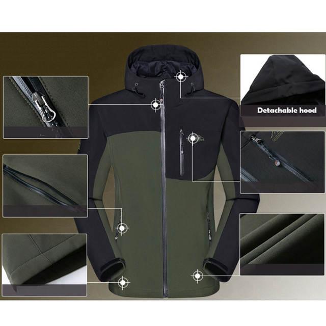 360468ab50f4 placeholder MAZEROUT Man Winter Waterproof Fishing Skiing Warm Softshell  Fleece Hiking Outdoor Trekking Camping Jacket Set Pants