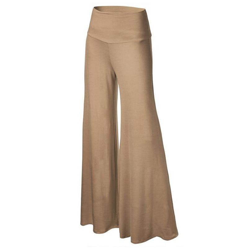 CALOFE 2019 New Summer Irregular Ruffles   Wide     Leg     Pants   Women High Waist Pleated   Pants   Femme Casual Loose Streetwear Trousers