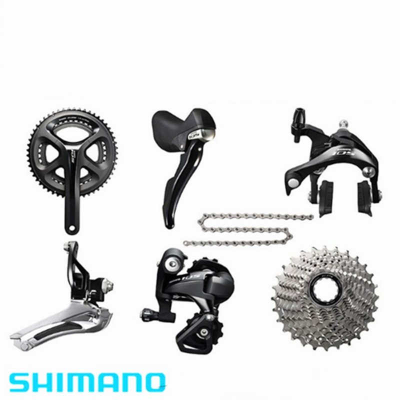 SHIMANO 105 5800 Road Bike Groupset Gruppos bicycle Group Set 50/34T Crankset 2*11S цена 2017