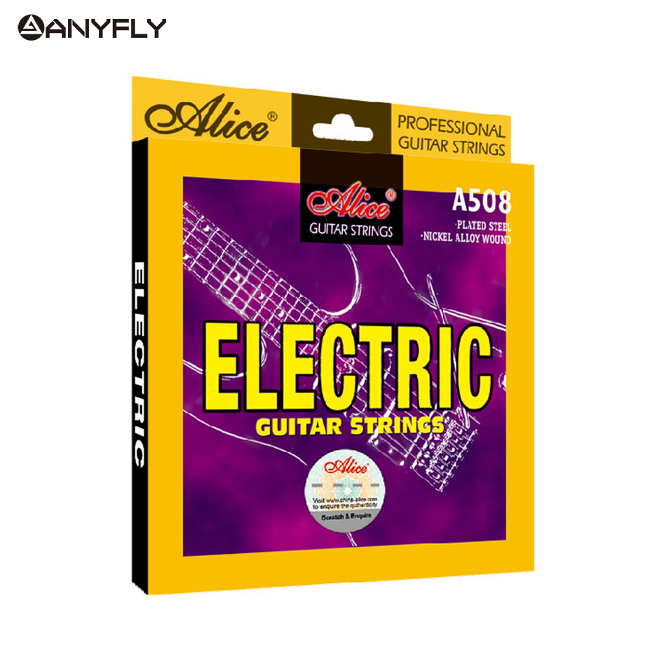 Original Alice A508 Electric Guitar Strings 1st-6th Full Set Strings Light Super Light Nickel Alloy Wound Steel Core Guitar Part amola 3sets lot et200 009 042 electric guitar strings nickel alloy wound musical instruments accessories super light