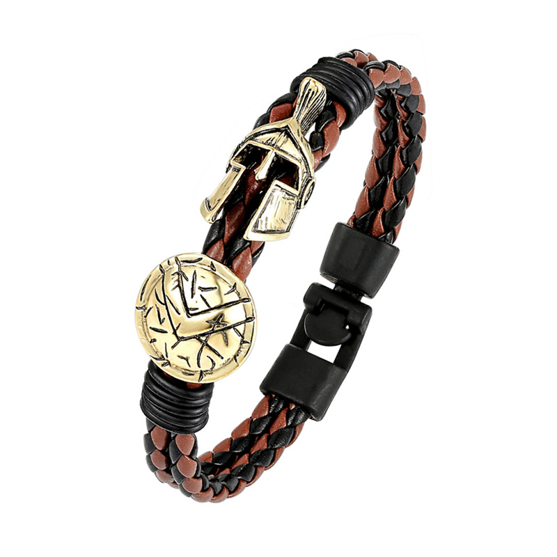Fashion Explosion Spartan Bracelet Helmet Retro Women Bracelet Men Bracelet Europe Ladies Brave Knight Bracelet Fine Jewelry