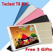"""Ультратонкий чехол для Teclast T8 m8 8,"""" подставка из искусственной кожи чехол для Teclast M8 8,4"""" защитный чехол для планшетного ПК+ пленка в подарок"""