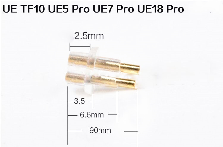 1pair free shipping Female Port Socket 0.75mm Earphone Pins Plug For DIY UE tf10 UE7 UE5 UE18 Pro IEM sale 0 78mm earphone pins plug for ue tf10 ue tf15 5pro f3 cable connector black clear