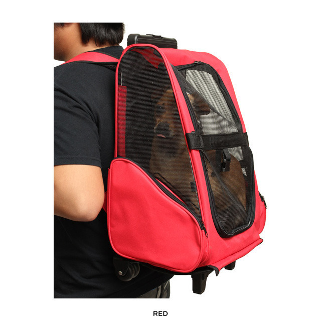 Protable Pet Dog Trolley Bag Luggage Stroller Carrier With Wheel Puppy Cat Travel Tote Backpack For Small In Carriers From Home