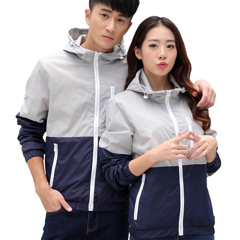 Hooded Casual Clothes Basic Jackets Coat Men's Fashion Thin Windbreaker Zipper Women's Casaco Feminino Chaqueta Mujer Harajuku
