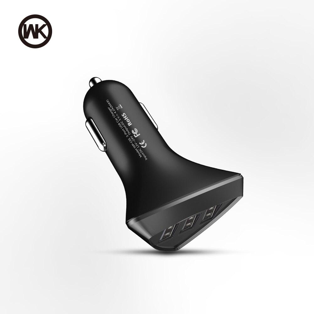 SEM CONCEPTION 3 Port USB Chargeur De Voiture pour iPhone X 7 8 Plus Rapide De Voiture USB Chargeur de Téléphone Pour iPad tablet Carregador Portatil Blitzwolf