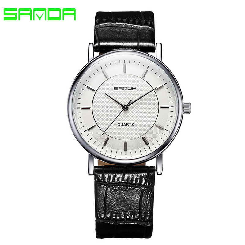Mens Watches Casual Women Quartz-watch Lovers Waterproof Leather Strap Wrist Relogio Masculino 2017 New Top Brand Sanda relogio masculino watch fashion lovers men women leather band quartz analog wrist watch casual bracelet watches wrist wholesale