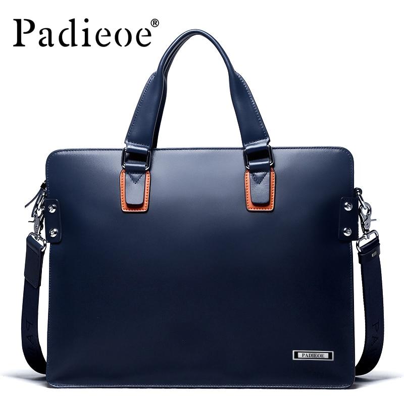 Padieoe Briefcase Men Laptop-Bag Portfolio Shoulder-Bags Business Designer Male