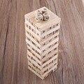 Nova Torre De Madeira Blocos de Construção de Madeira Dice Engraçado Empilhador Construção Educacional Puzzle Game Presente Clássico