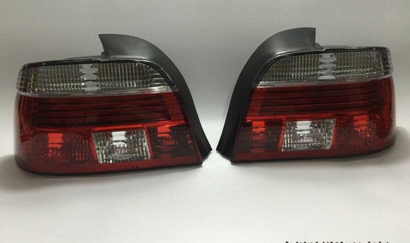 EOsuns LED feu arrière + feu de frein + clignotant feu de pare-chocs arrière réflecteur pour BMW série 5 E39 520i 523i 525i 528i 530i 540i