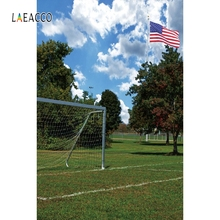 Laeacco Grassland Tree Football Field Baby Portrait Photography Background Customized Photographic Backdrops For Photo Studio sport football game vinyl photography backdrops digital printing for photo studio portrait photographic background s 1167