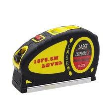 Многофункциональный лазерный уровень весы инфракрасный лазерный уровень с 5,5 метровой лентой измерения