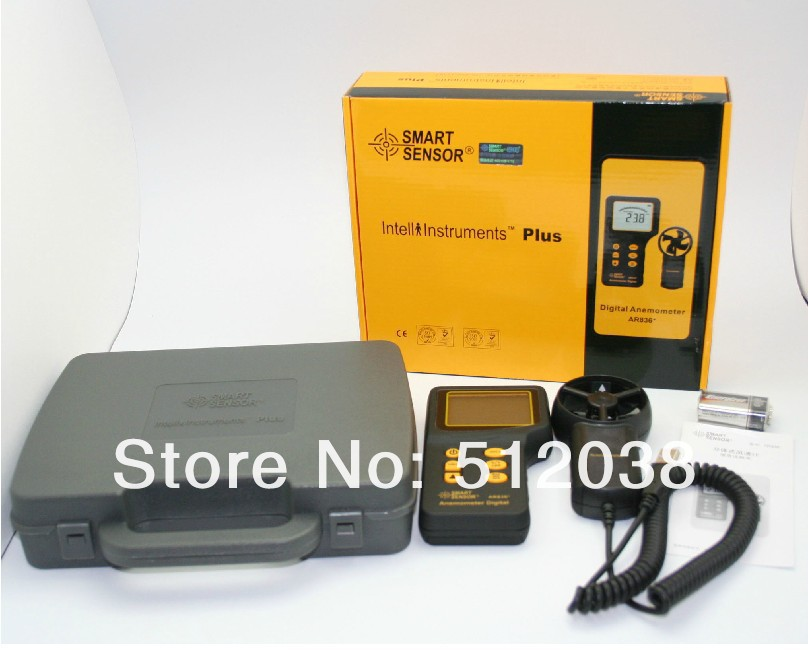 Air Flow Wind Speed Anemometer+Temperature Tester AR836 + ar216 air flow anemometer digital wind speed meter tester