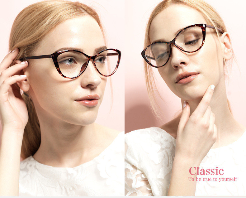 77e2035718f 2016 new fashion brand women sexy cat eye glasses plain women Clear ...