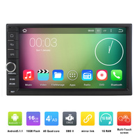 7 Inch 2 Din Universal Quad Core 800 480 Android 5 1 Car DVD GPS Navigation