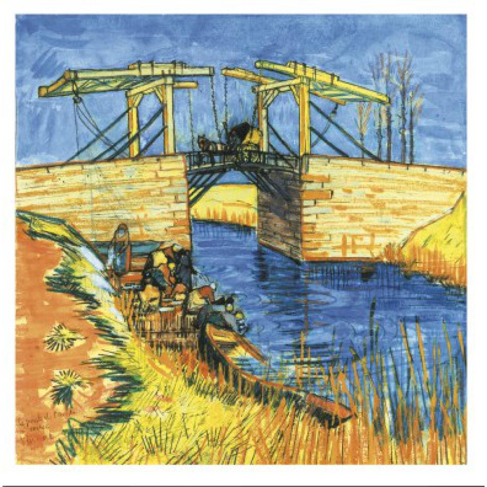 Le Pont De Langlois a Arles by Vincent Van Gogh Reproduction oil painting Canvas art Handmade High qualityLe Pont De Langlois a Arles by Vincent Van Gogh Reproduction oil painting Canvas art Handmade High quality