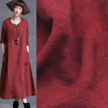 Multicolor optional jacquard linen cloth spring and summer solid color retro ramie dress pants cotton fabric