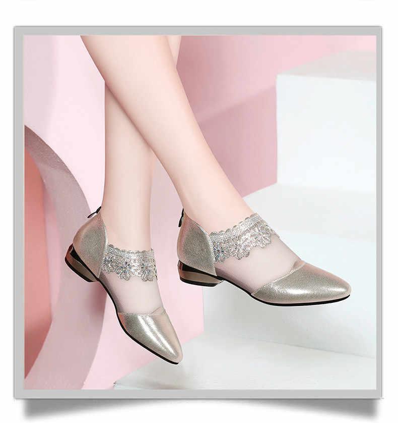 Yeni sivri zarif kadın siyah dantel ayak bileği çiçek yüksek topuk Stiletto pompalar bayanlar parti dans pompa ayakkabı f165