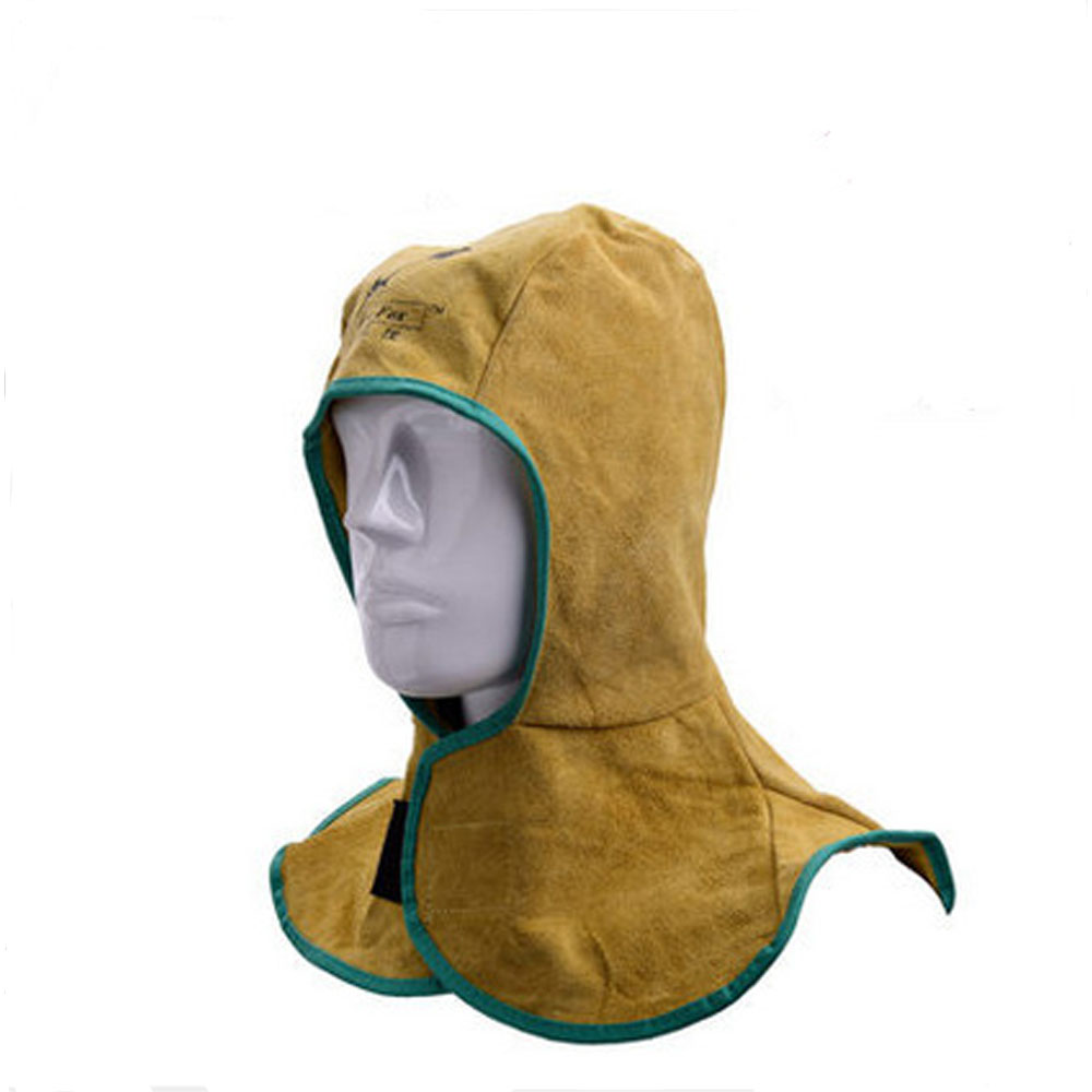 LB001 Heavy Duty Leather Fire Flame Retardant Protective Welders Welding Hood Mask
