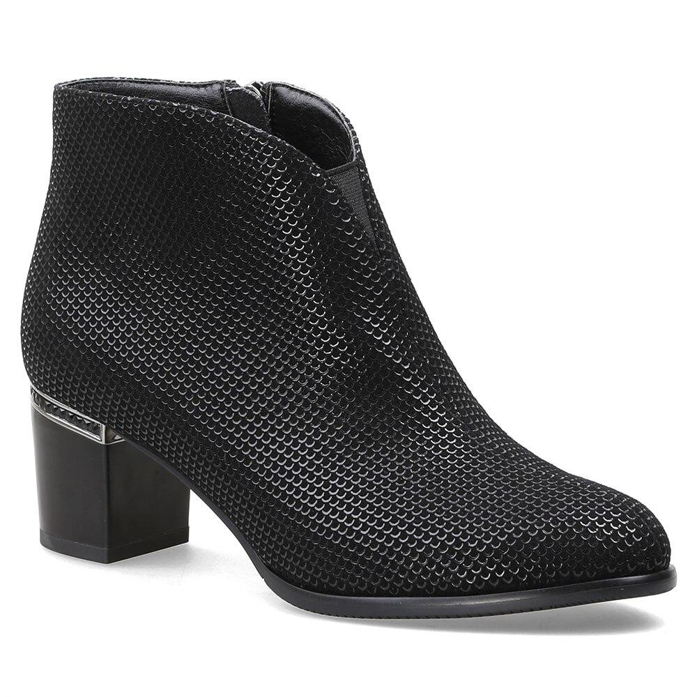 Chaussures Haut Bottes Bout Mode Côté Mebi Daim Femme Zip