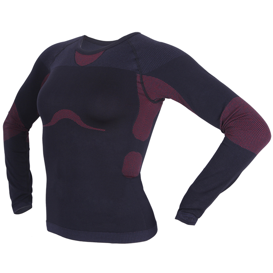 Women Winter Thermal Sweatshirts Tops Tee Long Sleeve Compression Shirts  Elastic Fitness Tracksuit Wholesale Workout Clothes Tee-in T-Shirts from  Women s ... 36c6eb8494