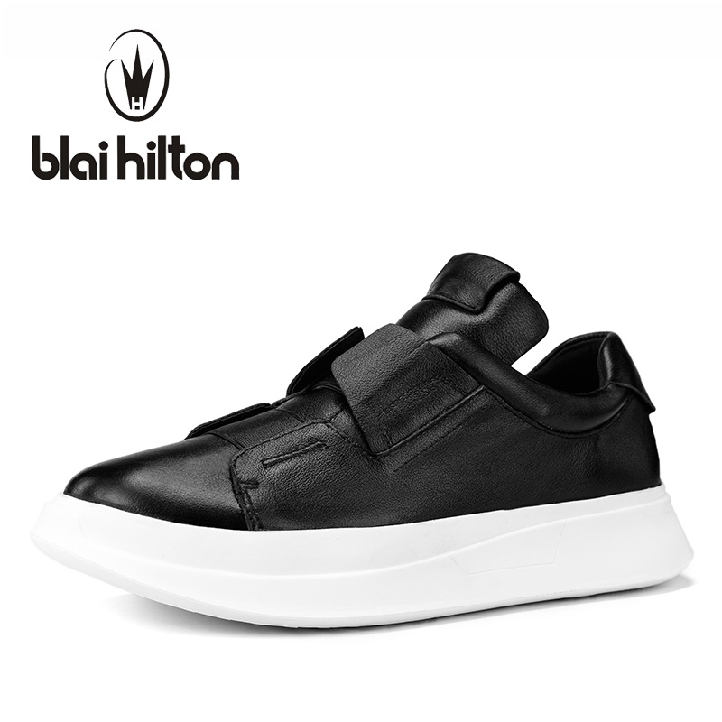 Blaibilton Platform Luxury 100% Genuine Leather Men Shoes Male Footwear Mens Casual Shoes Fashion Designer Breathable SD0786 2017 new spring imported leather men s shoes white eather shoes breathable sneaker fashion men casual shoes