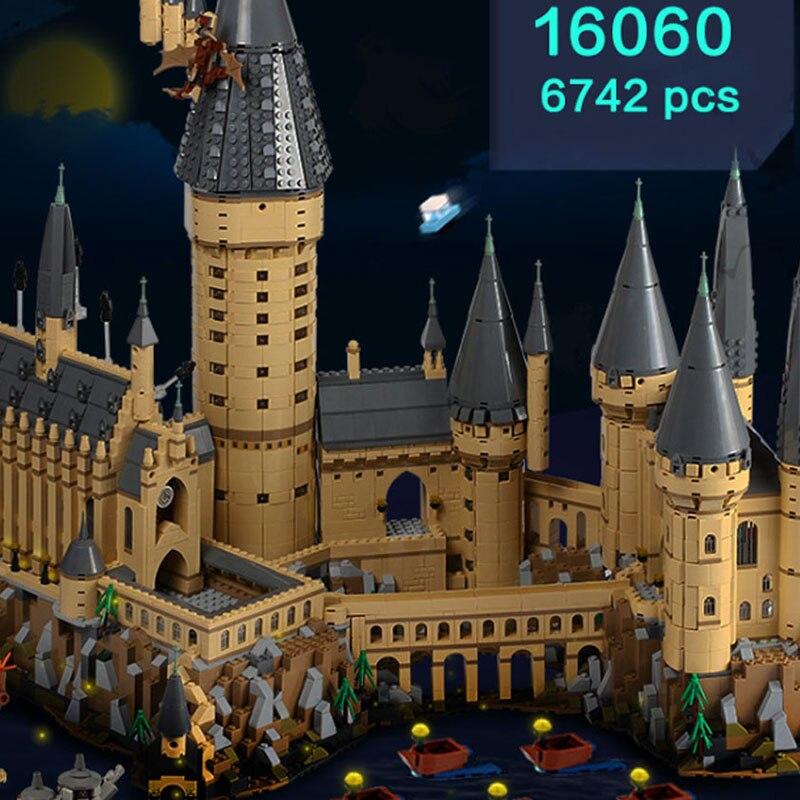 Spagna Lepin 16060 Harry Film Potter Serie 71043 Hogwarts Castello Set Building Blocks Mattoni Spedetto Entro 2 Giorni