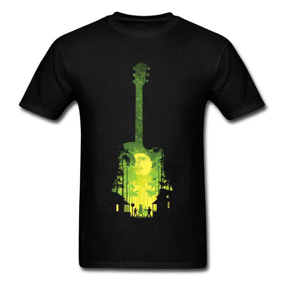 Autumn Camisa Tee Shirts Moonlight The Last Song Guitar Men's Print T Shirts No Pocket Deisgn Club T-Shirts New Music T Shirt image
