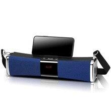 Altavoz de columna altavoz portátil inalámbrico portátil con Bluetooth estéreo de gran potencia 10W con sistema TF FM Radio música Subwoofer para ordenador