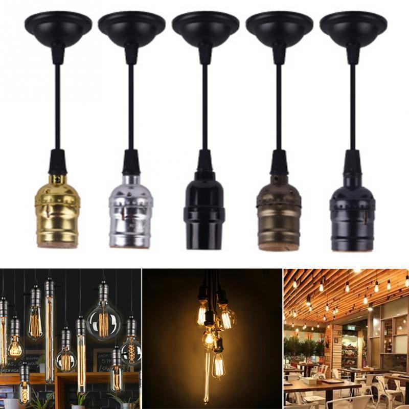 E26 E27 Vintage Lamp Holder Bar Base Hanging Strip Aluminum Socket Ceiling Light For