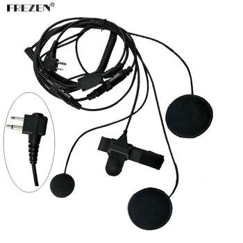 2 pin Motorcycle Full Face Helmet Headset Earpiece For Motorola GP68, GP88, GP88S CP150, CP200 XTN446 CT150, CT250 Radio цена 2017