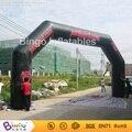 Надувные арки для рекламоносителем с черно-красный цвет 10 м в длину, реклама арка игрушка