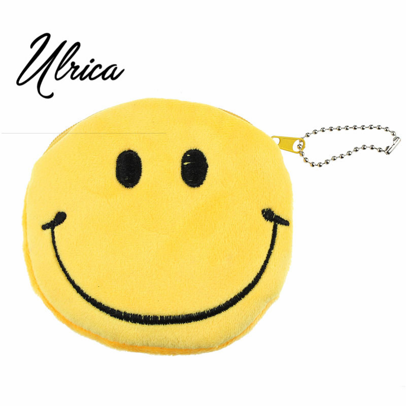 Top Brand Fashion Zipper Soft Coin Holder Fashion Women Girl Lovely Lady Small Wallet Emoji Smile Purse Bag Gift Coin Purse ринфолтил 60 таблетки