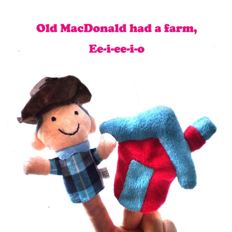 Детские игрушки 10 шт./лот скотный двор куклы-наперстки-мир классическая история песни Old Macdonald had A Farm