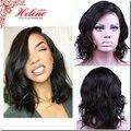 Glueless Cheia Do Laço Perucas de Cabelo Humano Para As Mulheres Negras Brasileira Virgem Onda Peruca de cabelo Rendas Frente Com o Cabelo Do Bebê Cheia Do Laço Curto perucas
