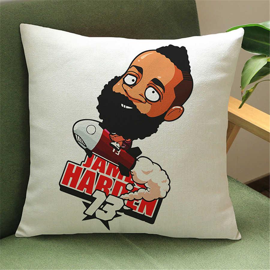 James Harden Rose Nba Basketball Cartoon Decorative Sofa Throw Pillow Case Vintage Home Decor Chair Cushion
