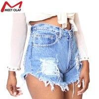 Vrouwen Shorts Vintage Gescheurde Gat Zomer Casual Pocket Jean korte Broek 2018 Meisje Hot Hoge Taille Mini Shorts Kwastje YL348