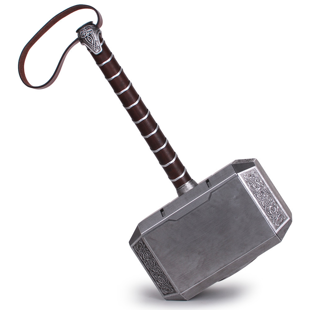 1:1 Scale Full Metal Thor Hammer Mjolnir 1/1 Replica Thor Custom Cosplay Hammer Collection Model Toy
